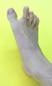 足の指,体操,チョキ