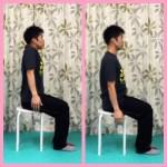 肩甲骨,上下,運動,引き締め