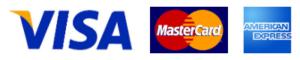 VISA、MasterCard、AMEX